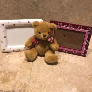 Alpha Phi Bear & 2 4x6 picture frames